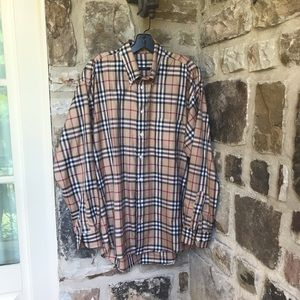 Burberry London button down collared shirt